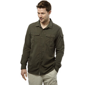 Craghoppers M's NosiLife Adventure LS Shirt Dark Khaki